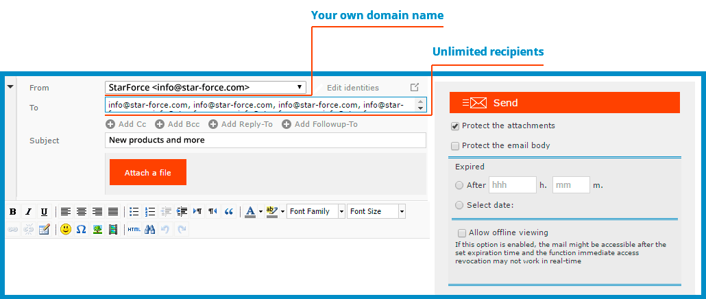 Bulk email with your own domain name